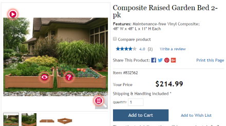 Costco Garden Bed