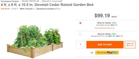 Home Depot Garden Bed
