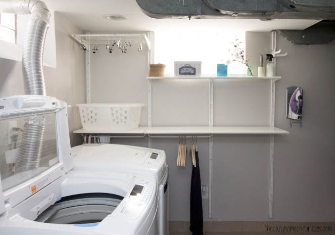 Laundry Room Remodel with IKEA's Algot System